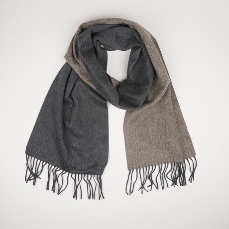 Patrick Double Scarf // Anthracite Mink 355