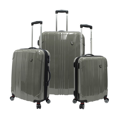 Sedona Expandable Spinner Luggage // Set of 3 (Pewter)