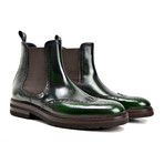 Luciano Chelsea Wing Brogue // Green + Coffee (Euro: 41)