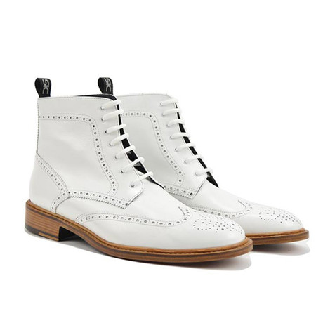 Colombo Ankle Wing Brogue // White (Euro: 41)