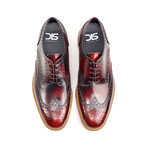 Volta Derby Wing Brogue // Red (Euro: 41)