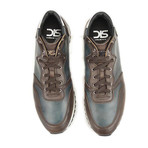 Romano Sneaker High Top // Coffee + Navy (Euro: 41)