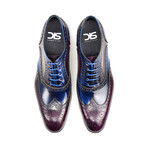 Fred // Oxford Wing Brogue // Blue + Violet (Euro: 41)