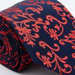 Hershel Tie // Red + Navy Vines