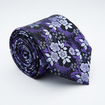 Dominic Tie // Purple + Silver