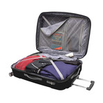 "Sedona Expandable Spinner Luggage // Black (21"")"