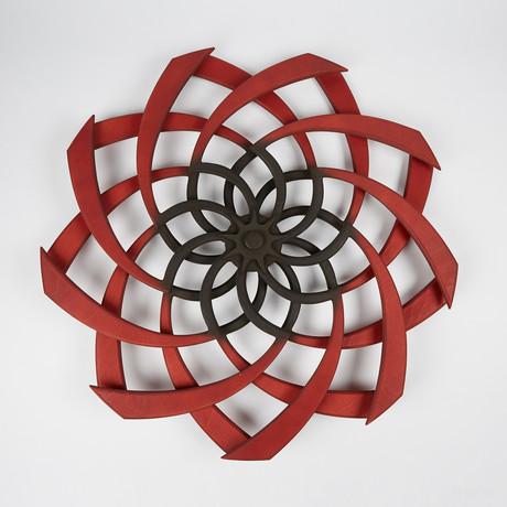 Sunflower Kinetic Scultpure // Crimson