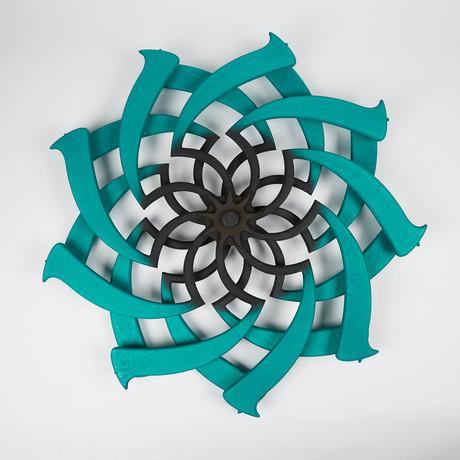 Lotus Kinetic Sculpture // Malachite