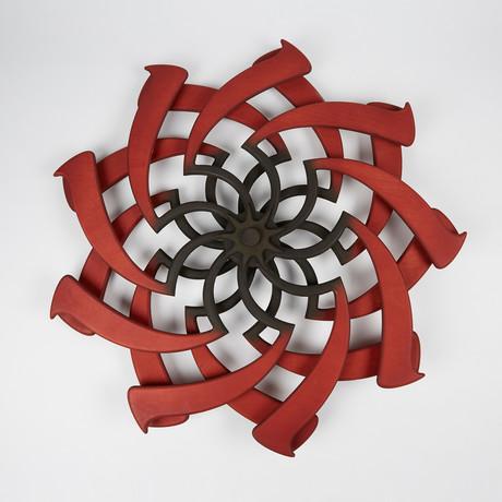 Lotus Kinetic Sculpture // Crimson