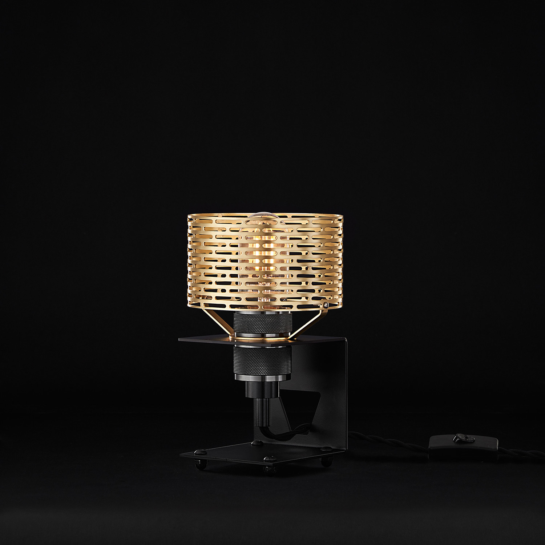 C Frame Halo Table Lamp (Matte Black)