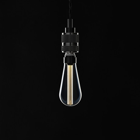 Saber LED Pendant // Black Chrome (1 Bulb)
