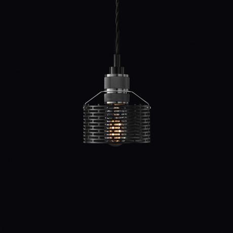Halo Pekota Pendant // Matte Black (1 Bulb)
