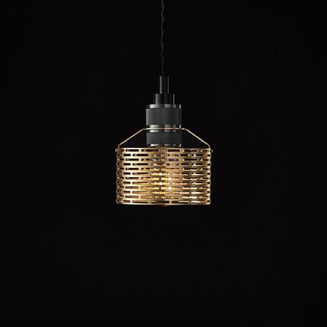 Halo Pekota Pendant // Brass + Black Chrome (1 Bulb)