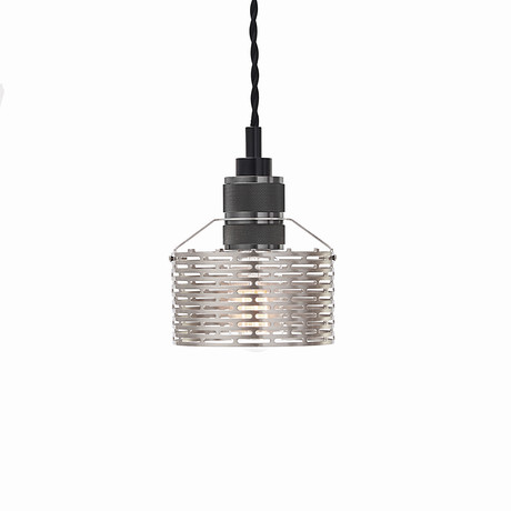 Halo Pekota Pendant // Nickle + Black Chrome (1 Bulb)