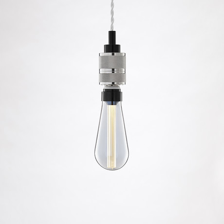 Saber LED Pendant // Chrome (1 Bulb)