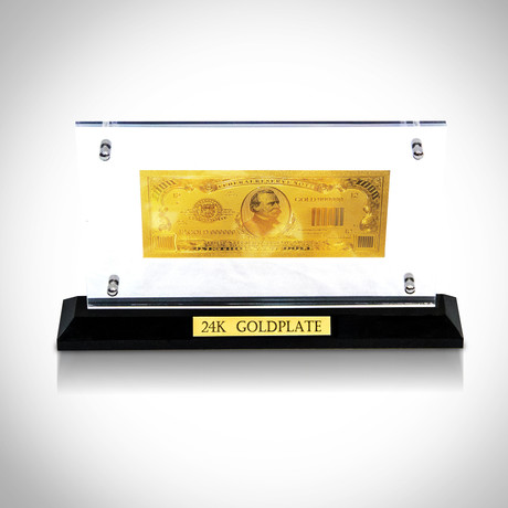 $1,000 Bill // 24K Gold-Plated Custom Table Top Display