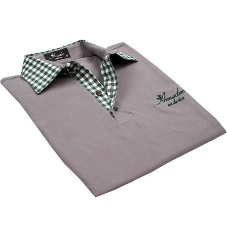 Limited Edition Pique Polo // Gray Checkered