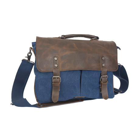 Dax Canvas Messenger Bag W/ ID Holder