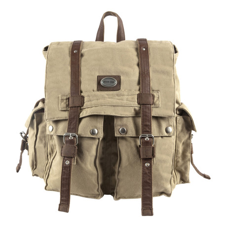 Cruz Canvas Backpack W/ ID Holder