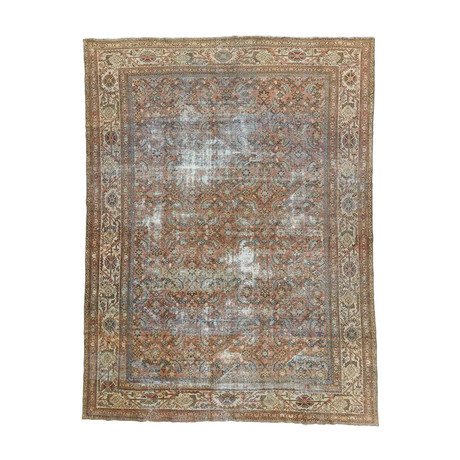 Hand Knotted Antique Mahal Rug