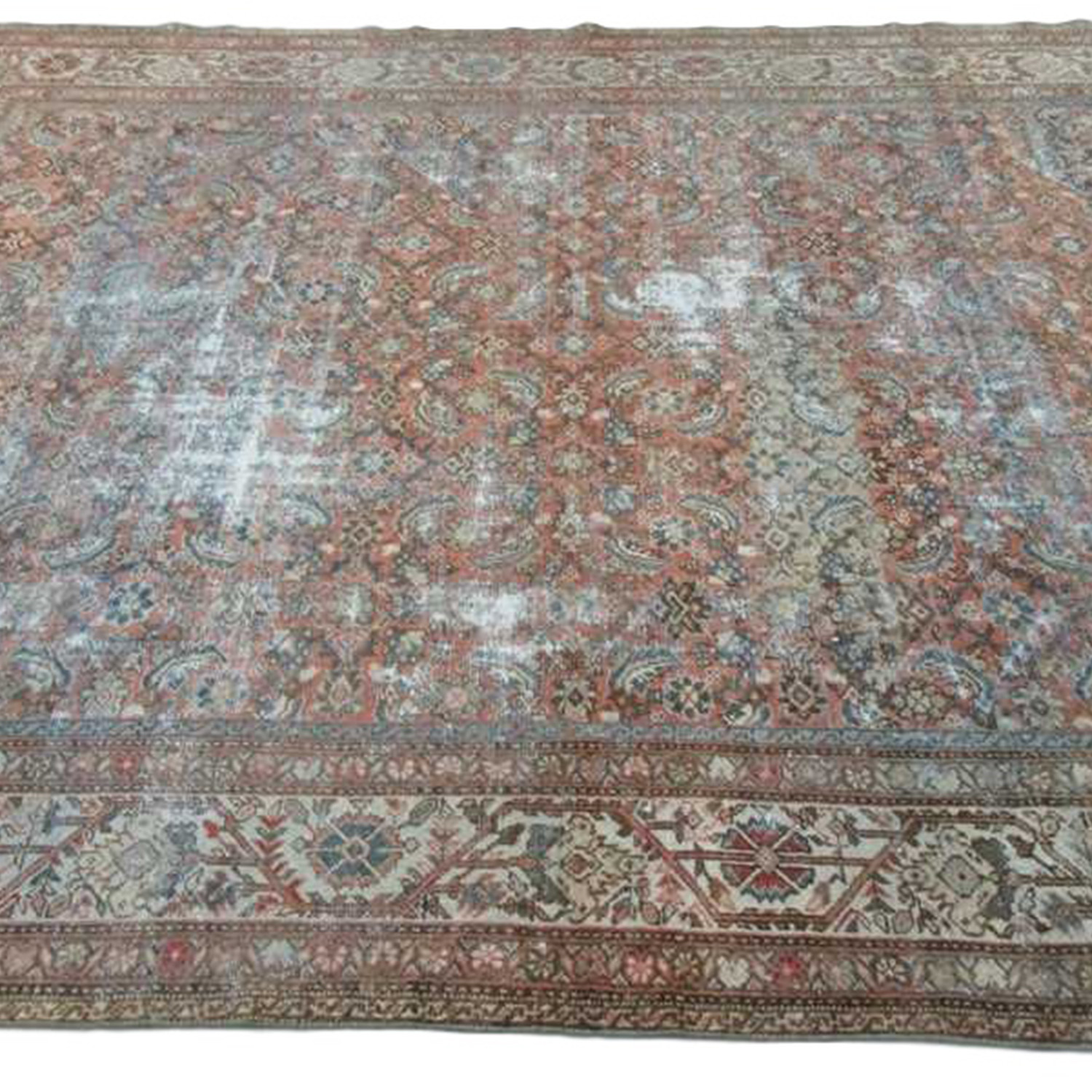 Hand Knotted Antique Mahal Rug Amara Rugs Touch Of Modern