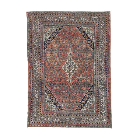 Hand Knotted Vintage Persian Rug
