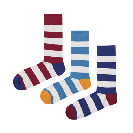 Stripes Socks // Pack of 3 (Size 36-40)