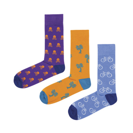 Prints Socks // Pack of 3 (Size 36-40)
