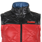 Patterned Winter Vest // Red + Black (XS)