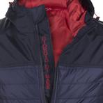 Moto Winter Coat // Navy (XS)