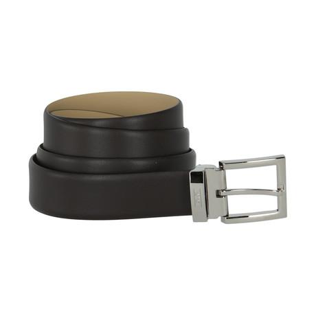 Armani Collezioni Leather Belt // Brown