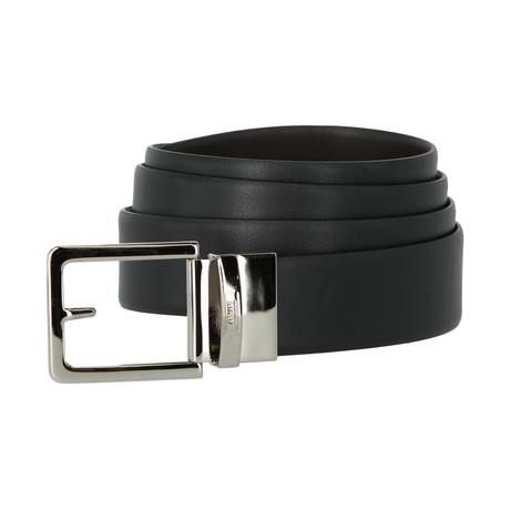 Armani Collezioni Leather Belt // Black