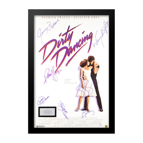 Signed Movie Poster // Dirty Dancing