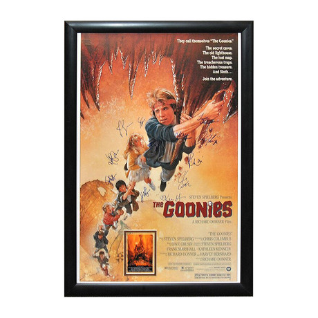 Signed Movie Poster // Goonies