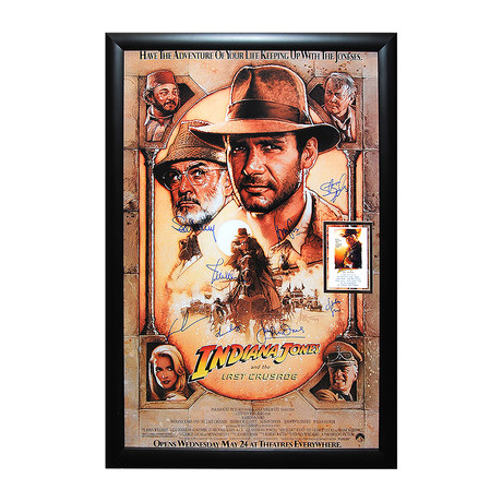 Signed Movie Poster // Indiana Jones And The Last Crusade