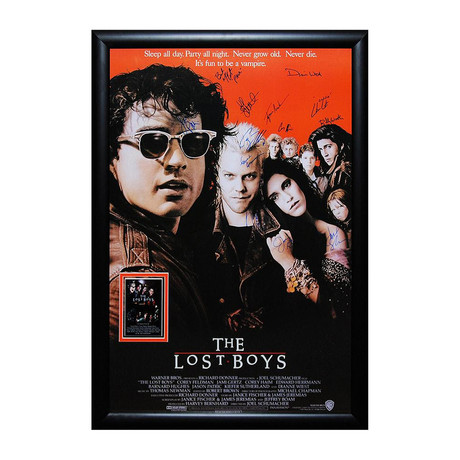 Signed Movie Poster // The Lost Boys