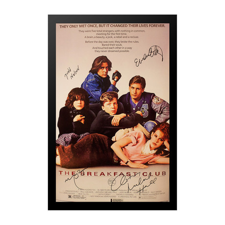 Signed Movie Poster // Breakfast Club