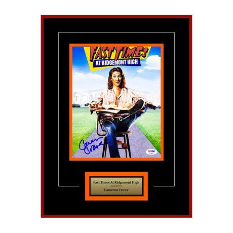 Fast Times at Ridgemont High Signed Photograph // Cameron Crowe