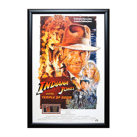 Signed Movie Poster // Indiana Jones and the Temple Of Doom