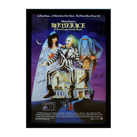 Signed Movie Poster // Beetlejuice