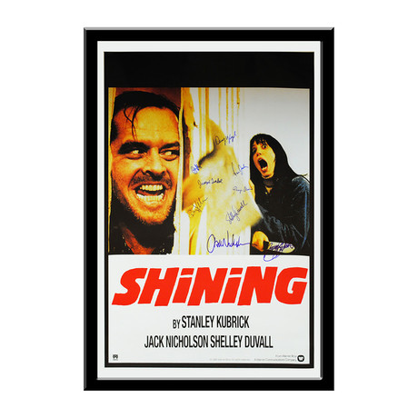Signed Movie Poster // The Shining I