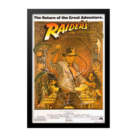 Signed Movie Poster // Raiders Of The Lost Ark