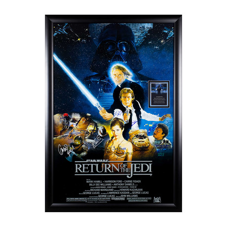 Signed Movie Poster // Return Of The Jedi