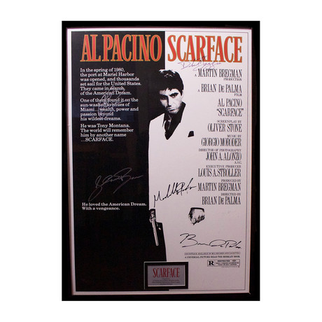 Signed Movie Poster // Scarface