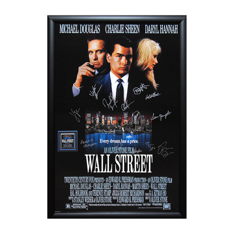 Signed Movie Poster // Wall Street