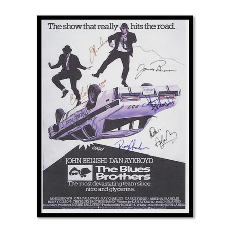 Signed Movie Poster // Blues Brothers