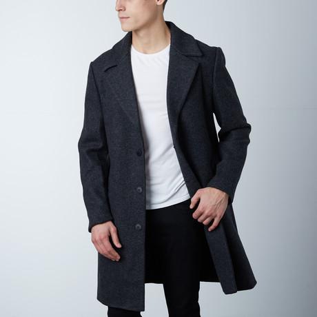 Bastien Long Coat // Dark Melange (XS)