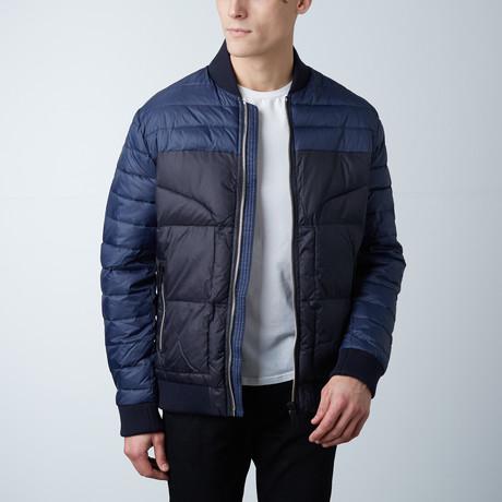 Clement Coat W/ Ribbed Trims // Soft Blue (XS)