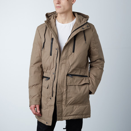 Baron Parka W/ Detachable Fur on Hood // Wood (XS)