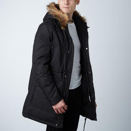 Pearson Parka W/ Detachable Fur on Hood // Black (XS)